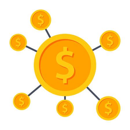 Crowdfunding Icon Illustration