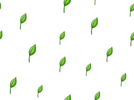 spring leaf: Seamless Leaves Pattern Stock Photo
