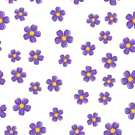 violet: Seamless Flower Pattern