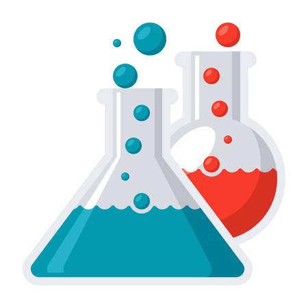 Laboratory flasks icon
