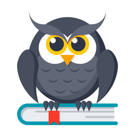 student book: Knowledge Vector Icon Illustration