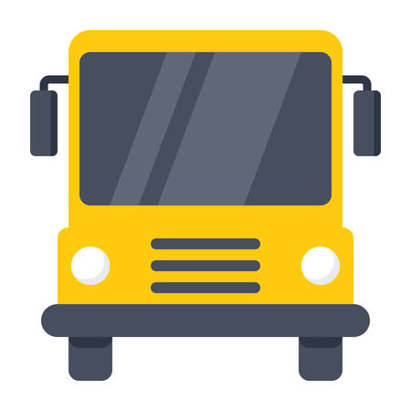 street symbols: School Bus Icon