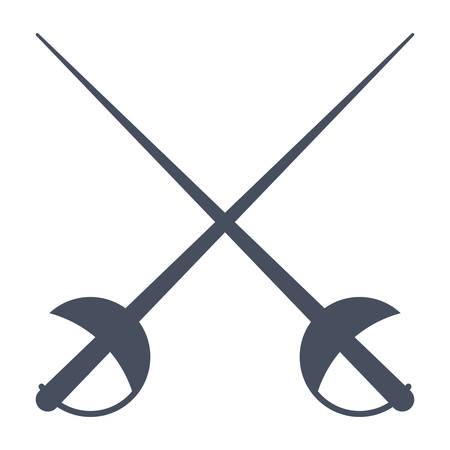 Escrime Vecteur Icône Vecteurs