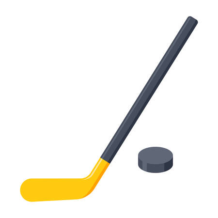 puck: Hockey Stick and Puck Illustration
