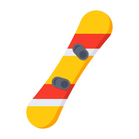 Snowboard with Bindings Illustration