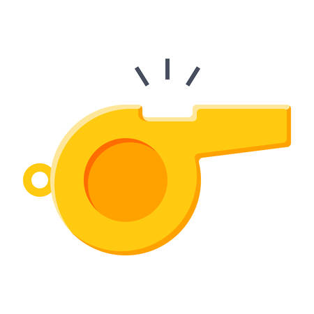 alertness: Whistle Vector Icon