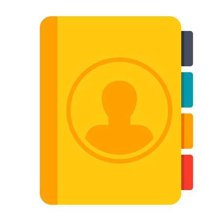 Contact Book Vector Icon