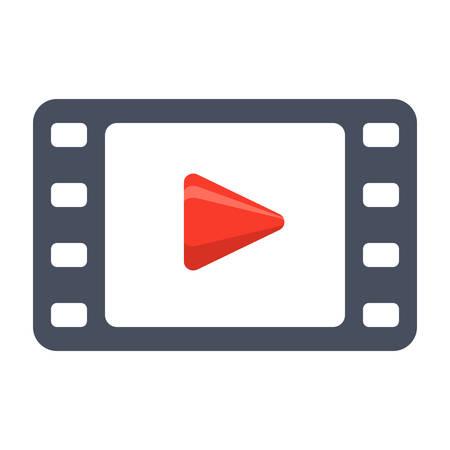 multimedia background: Video Vector Icon