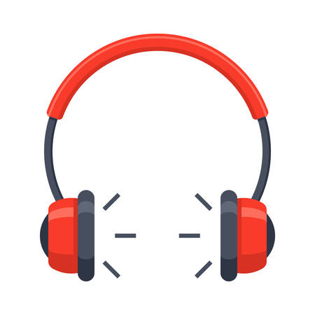 earphone: Headphones Vector Icon Illustration