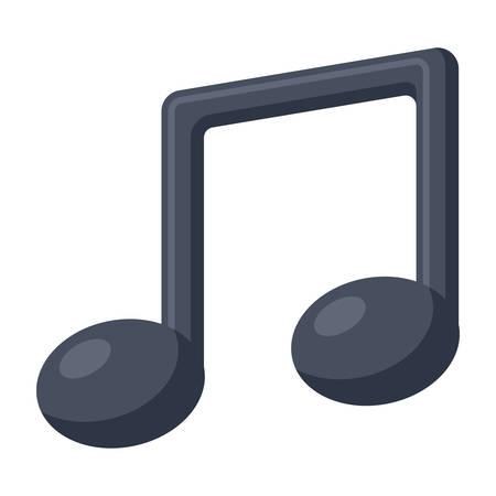 crotchets: Music Vector Icon Illustration