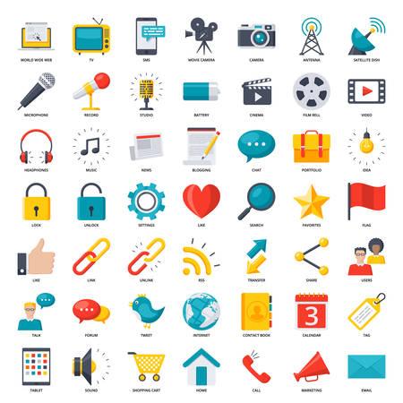 Icone di media e comunicazione
