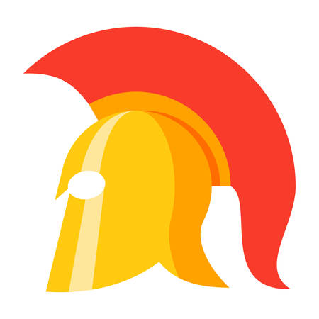 antiquarian: Spartan Helmet Vector Icon Illustration