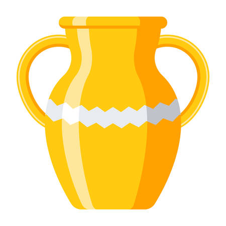 Vase or amphora, vector illustration in flat style