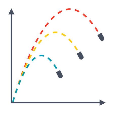 Ballistics Vector Icon Illustration