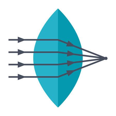 Biconvex Lens Icon