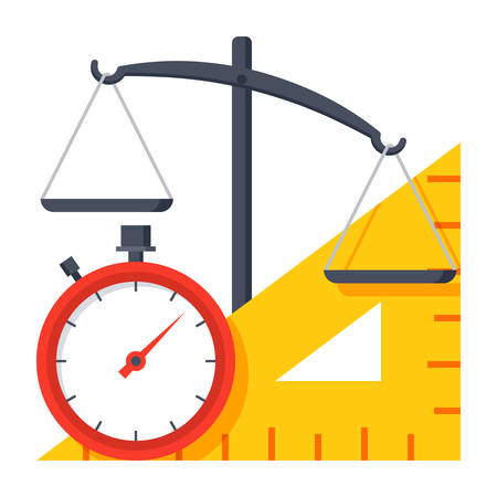 metrology: Measuring Instrument Icon Illustration