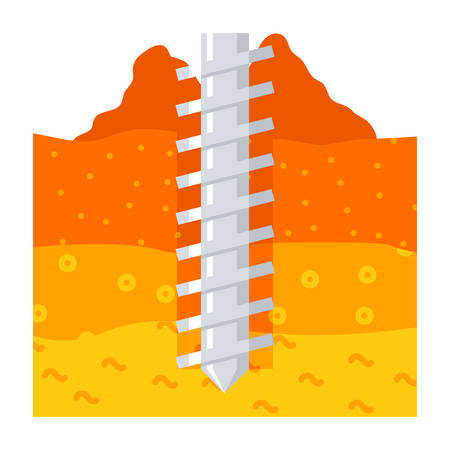 Geomechanics Vector Icon Ilustração