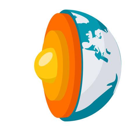 geomagnetic: Geophysics Science Concept Illustration