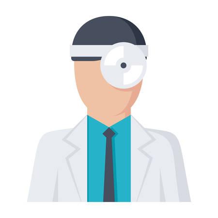 Otorhinolaryngologist Vector Icon Illustration