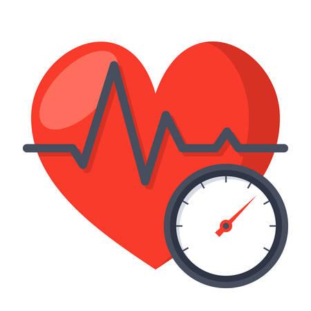 arterial: Blood Pressure Concept Illustration