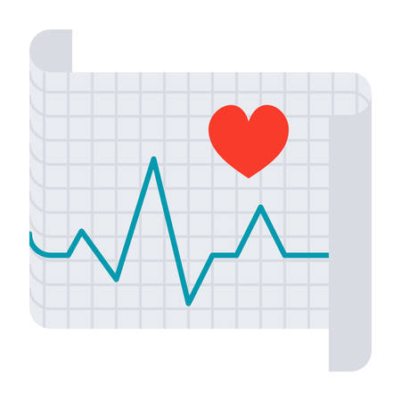 Electrocardiography Vector Icon