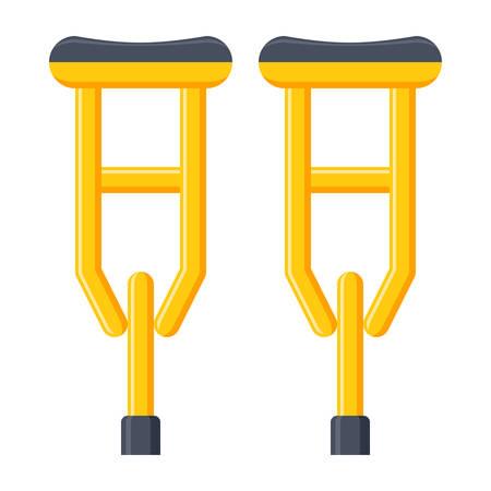 accidental: Crutches Vectot Icon Illustration
