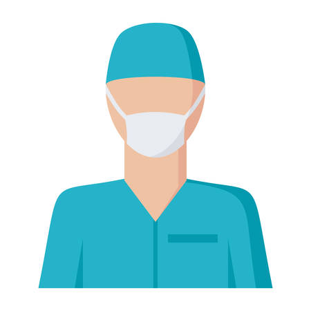 trainee: Surgeon Vector Icon Illustration