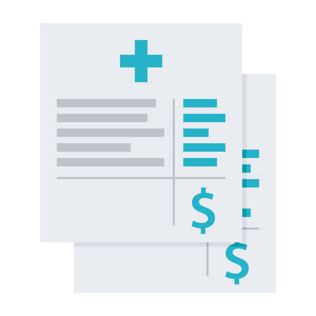Medical invoice or hospital bills, vector illustration in flat style