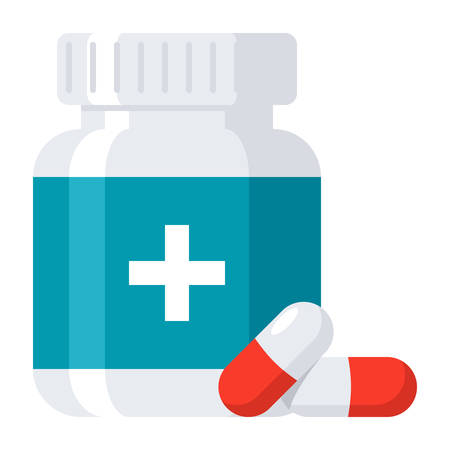 Ikona Drugs Farmaceutycznych Ilustracje wektorowe