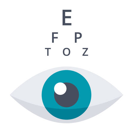 optometry: Optometry or Ophthalmology Icon Illustration