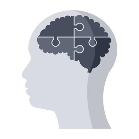 Icona medica di psichiatria Vettoriali