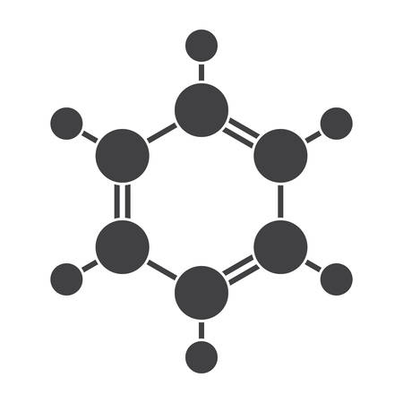 ベンゼンの分子模型  イラスト・ベクター素材