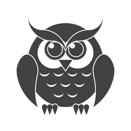 Owl Vector Silhouette Illustration