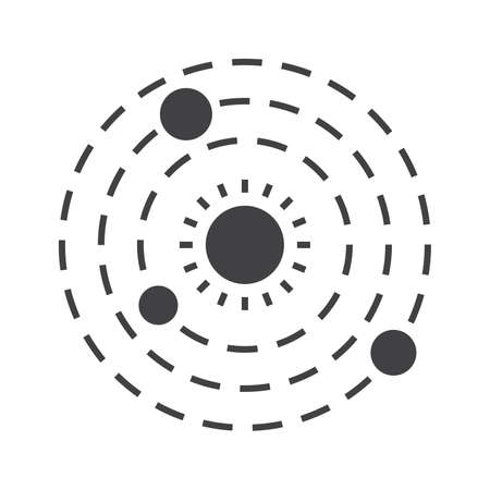 Solar System Icon Stock Photo