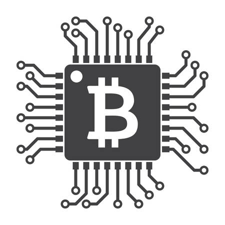 Computer chip for bitcoin mining