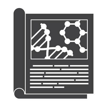 科学雑誌のアイコン  イラスト・ベクター素材