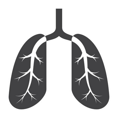 Lungs Medical Icon Illustration