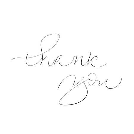 Thank You handwritten inscription calligraphy vector illustration