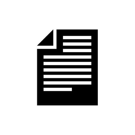 Stylish article or document icon on white background