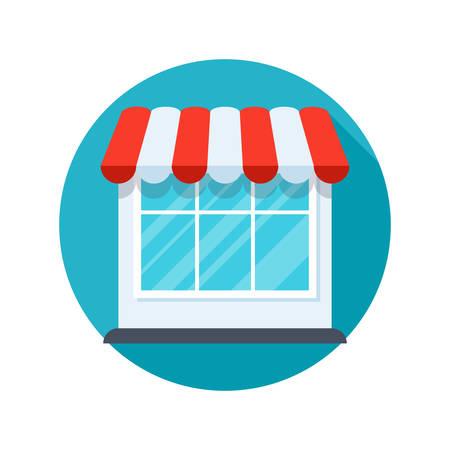 Store modern stylish icon on white background Illustration