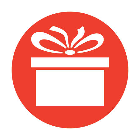 Classic holiday gift box stylish modern icon