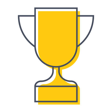 Award icon with champion golden trophy cup for winner Иллюстрация