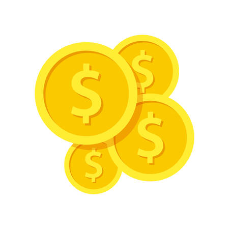 Investment modern stylish icon with golden coins