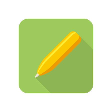 Pen modern stylish icon on white background Ilustração