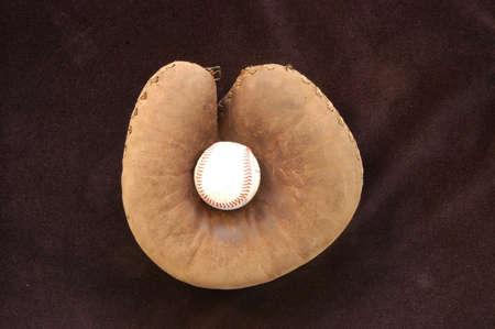 ball in catchers mitt