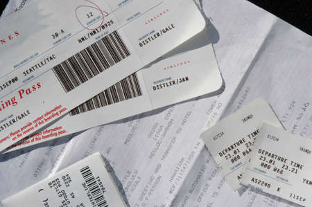 transfers: travel package with airline tickets and baggage claims