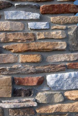 石の仕事の新しい住宅建設から背景