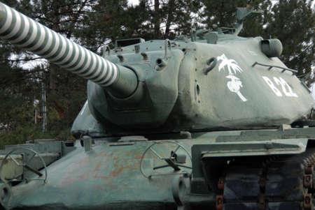 kills: United States Marines tank with many kills Stock Photo
