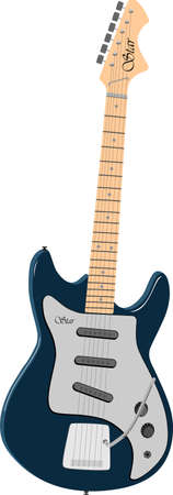 fingerboard: Solo electric guitar