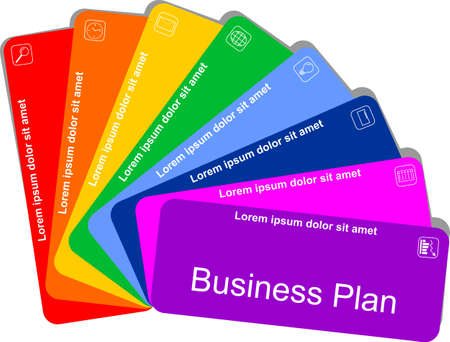 Colorful business concept eight-step